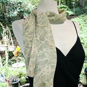 Accessories - NEUTRAL Silky Head.Neck Scarf #hundredsofscarves